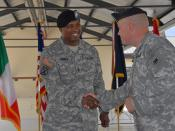Appointment Ceremony - CSM Brian W. Warren - United States Army Africa - 3 June 2010