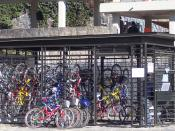 A bicycle jail at the Faculty of Philosophy and Letters.