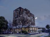 English: The Central Library of the National Autonomous University o