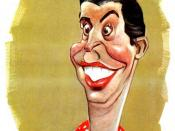 Caricature of Milton Berle by Sam Berman from 1947 NBC promotional book