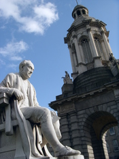 English: Sculpture of George Salmon at Trinity College, Dublin, Ireland