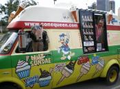 English: Cone Queen Ice-Cream Truck with Owner/Operator Sofija from Brisbane, Australia. Yum!