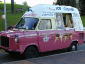 Ice cream truck in Sydney, Australia