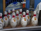English: Duckpins are shorter and squatter than the pins used in 10-pin bowling.