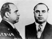 Al Capone. Mugshot information from Science and Society Picture Gallery: Al Capone (1899-1947), American gangster, 17 June 1931. 'Al Capone sent to prison. This picture shows the Bertillon photographs of Capone made by the US Dept of Justice. His rogue's