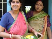 Subrata Ganguly and Arundhati Sarkhel, home makers are happy after buying fresh vegetables from doorstep.
