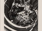 English: 1981: This is a retrospective look at the destruction found inside the SL-1 reactor core after it was damaged by a nuclear prompt-critical excursion on January 3, 1961 which killed three men. The extensive damage reminds people of the vast energi