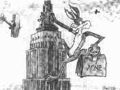 Promotional image featuring Wile E. Coyote
