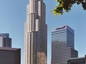 U.S. Bank Tower in Downtown Los Angeles is the tallest building west of the Mississippi River.