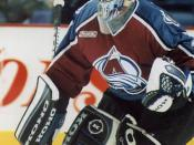 Ice hockey player Patrick Roy Русский: Вратарь в хоккее с шайбой