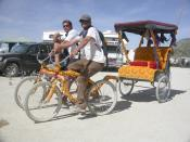 An art bike at the Burning Man Festival, Nevada USA