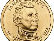 English: Presidential $1 Coin Program coin for James Monroe. Obverse.