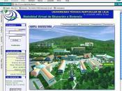Primera web de UTPL Online (2001)