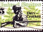 English: Davy Crockett 1967 Issue, 5c
