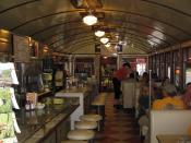 Interior of the 1938 Diner in Wellsboro, Tioga County, Pennsylvania, United States