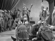 06 The Great Garrick (1937) Hamlet Sequence, Fritz Leiber Jr as Fortinbras and Fritz Leiber Sr as Horatio (Annotated)