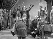 08 The Great Garrick (1937) Hamlet Sequence, Fritz Leiber Jr as Fortinbras and Fritz Leiber Sr as Horatio (Annotated)