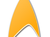English: A stylized delta shield, based on the Star Trek logo.