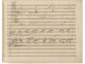 Page 12 (right) of Ludwig van Beethoven's original Ninth Symphony manuscript.
