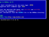 English: Dos Box 0.73 running on Windows 7