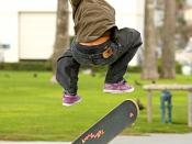 skateboarder in the air 2007