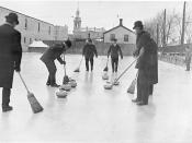 Men curling, Toronto, Ontario, Canada.