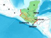 Settlement area of ancient Maya