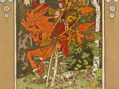 Ivan Bilibin's illustration of the Russian fairy tale about Vasilisa the Beautiful