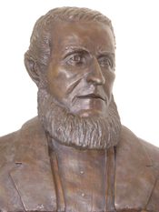 English: The bust of James Lick at the Lick Observatory