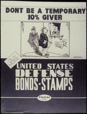 Don't Be a Temporary 10 Percent Giver. United States Defense Bonds-Stamps - NARA - 534056