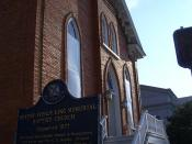 The Dexter Avenue Baptist Church in Montgomery, Alabama.