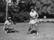WAVES playing softball 30 July 1944