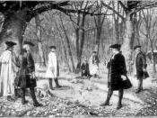 An artistic rendering of the July 11, 1804 duel between Aaron Burr and Alexander Hamilton by J. Mund.