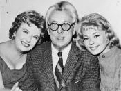 Peggy Cass, James Thurber, and Joan Anderson