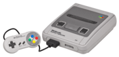 English: A Japanese Super Famicom game console by Nintendo. The equivalent to the Super NES.