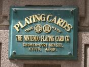 Former headquarters plate, from when Nintendo was solely a playing card company
