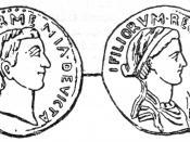 Denarius depicting Antony and Cleopatra. Sear# 440.
