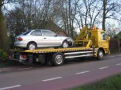 tow truck with car