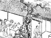 English: Jin Ping Mei, illustration from chinese edition (1617), part 1, chapter 4, Ximen Qing and Golden Lotus Polski: Ilustracja wg wydania chńskiego Kwiatów śliwy w złotym wazonie z 1617 roku, rozdział 4. część I - Ximen Qing i Złoty Lotos