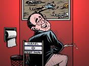 English: Caricature of Alan Dershowitz,