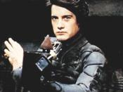 Paul Atreides (Kyle MacLachlan) wielding a Weirding Module in David Lynch's Dune (1984)