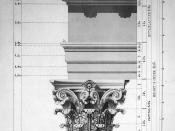 The Corinthian order as used in extending the US Capitol in 1854: the column's shaft has been omitted.