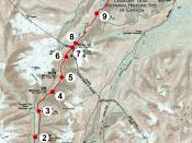 English: Modern map of Chilkoot trail