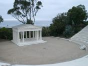 English: Greek amphitheater: Point Loma Nazarene University.