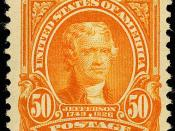 English: Thomas Jefferson, Issue of 1903, 50c