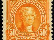 English: Thomas Jefferson, Issue of 1903, 50c