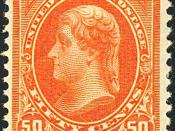 English: US Postage stamp, Jefferson, 1894 Issue, 50c