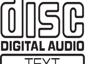 English: CD-Text logo Português: Logo do CD-Text The main fonts are Disc Note:Words and short phrases such as names, titles, and slogans; familiar symbols or designs; mere variations of typographic ornamentation, lettering or coloring; ...typeface as type