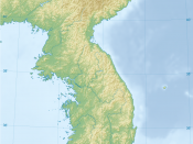 English: Topographic map of Korean Peninsula. 한국어: 한반도의 지형도