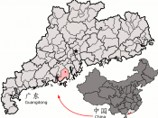 Location of Taishan within Guangdong province.